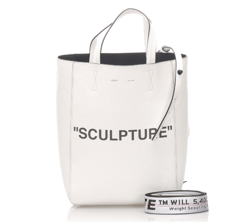 Off White Sculpture Leather Satchel