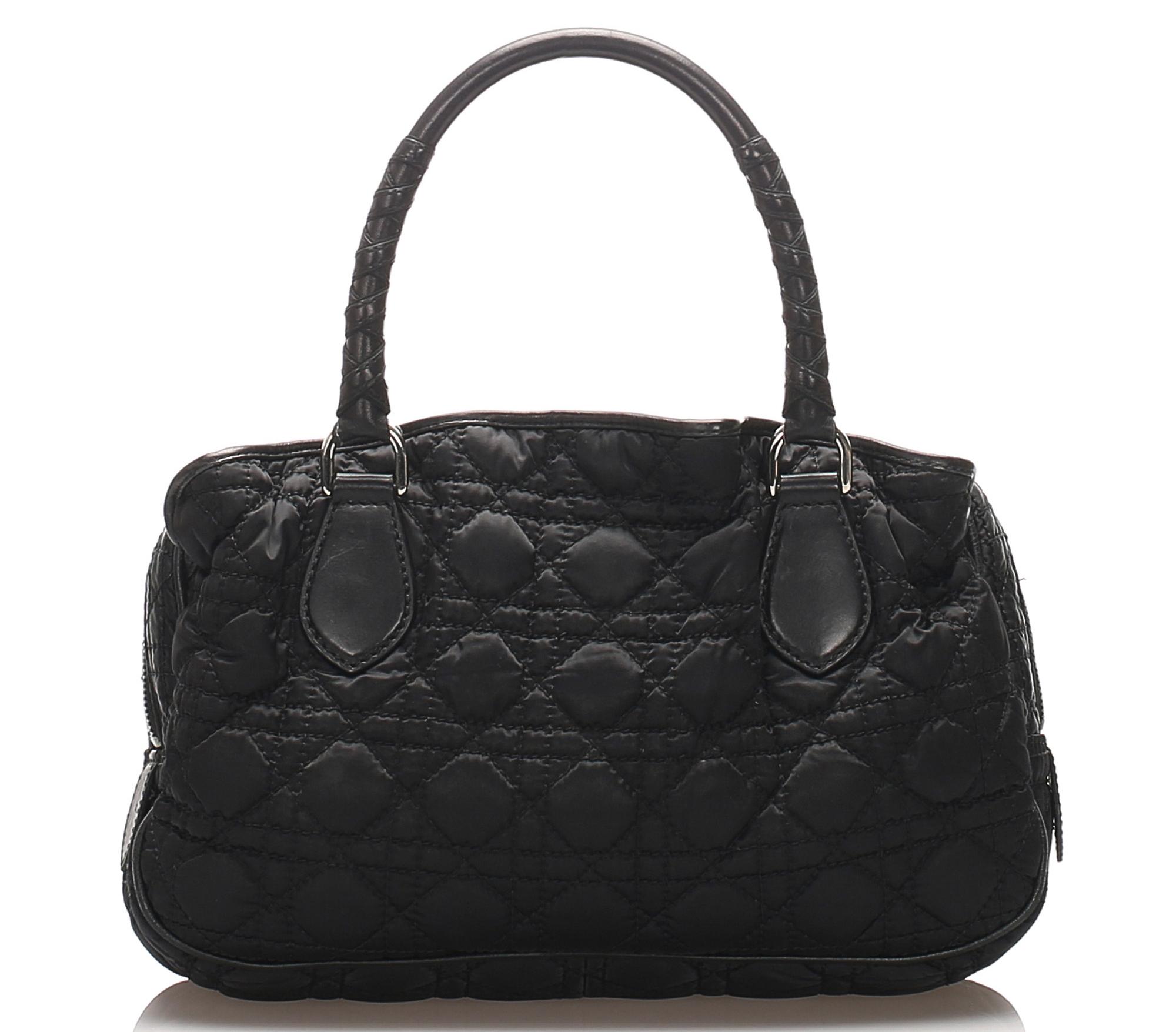 Dior Cannage Lovely Nylon Handbag