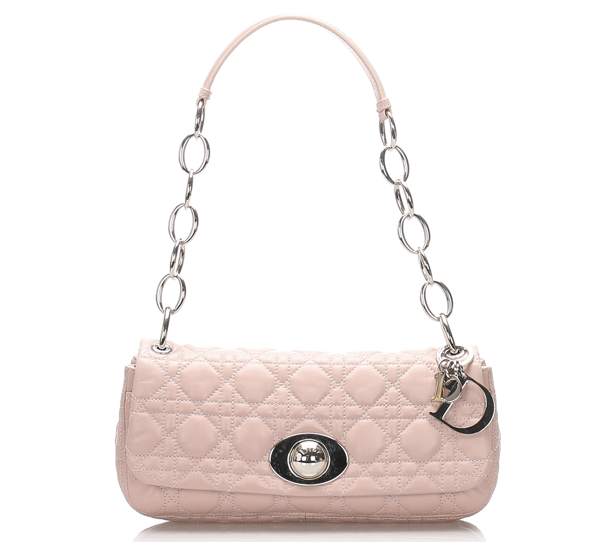 Dior Cannage Chain Leather Shoulder Bag
