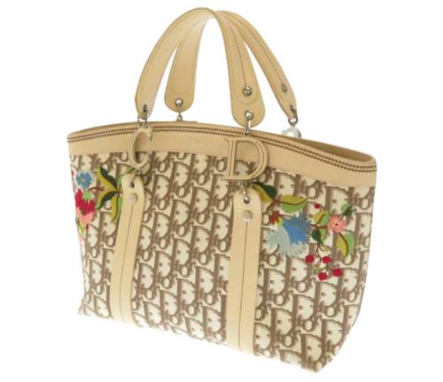 Dior Oblique Floral Canvas Tote Bag