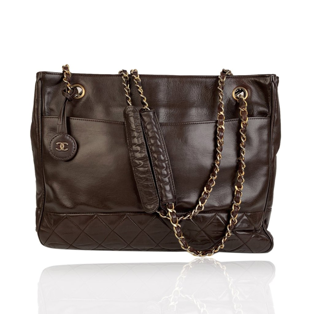Chanel Vintage Leather Tote Bag