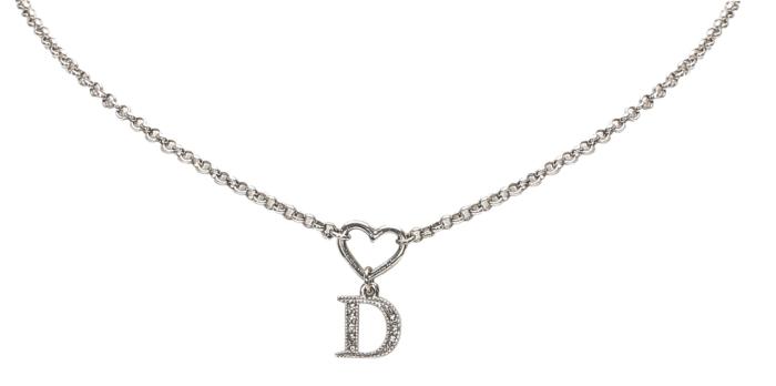 Dior Heart D Drop Pendant Necklace