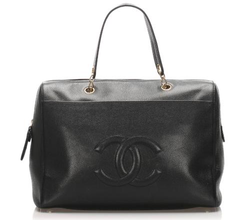 Chanel CC Caviar Leather Handbag