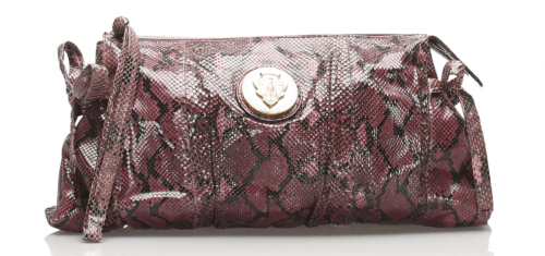 Gucci Hysteria Python Leather Clutch