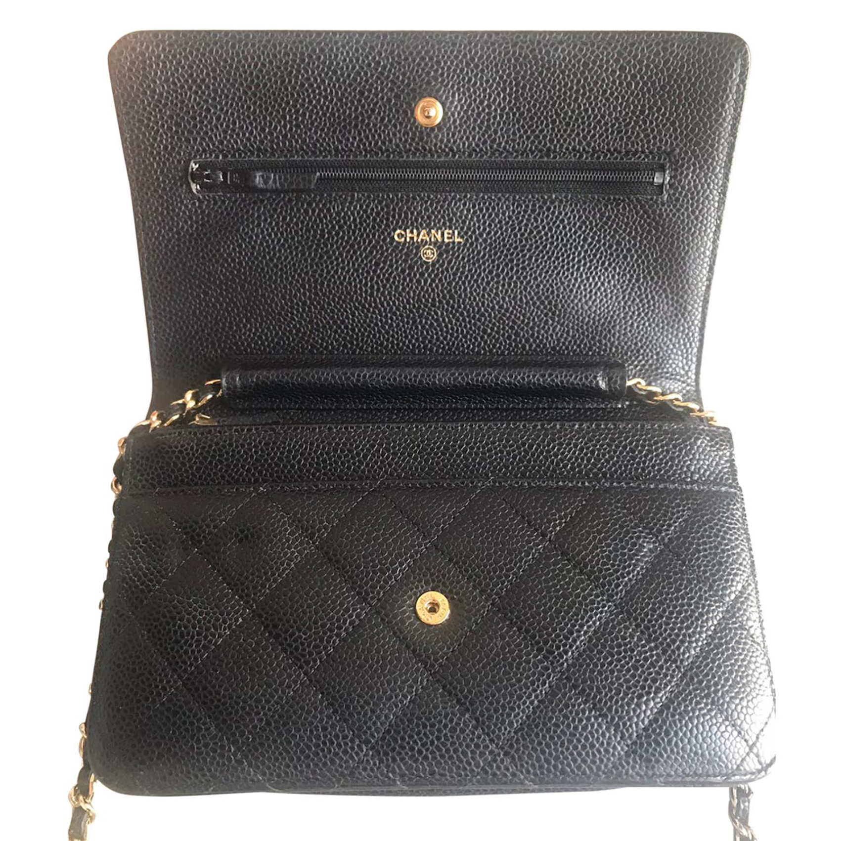 Chanel Caviar Wallet On Chain