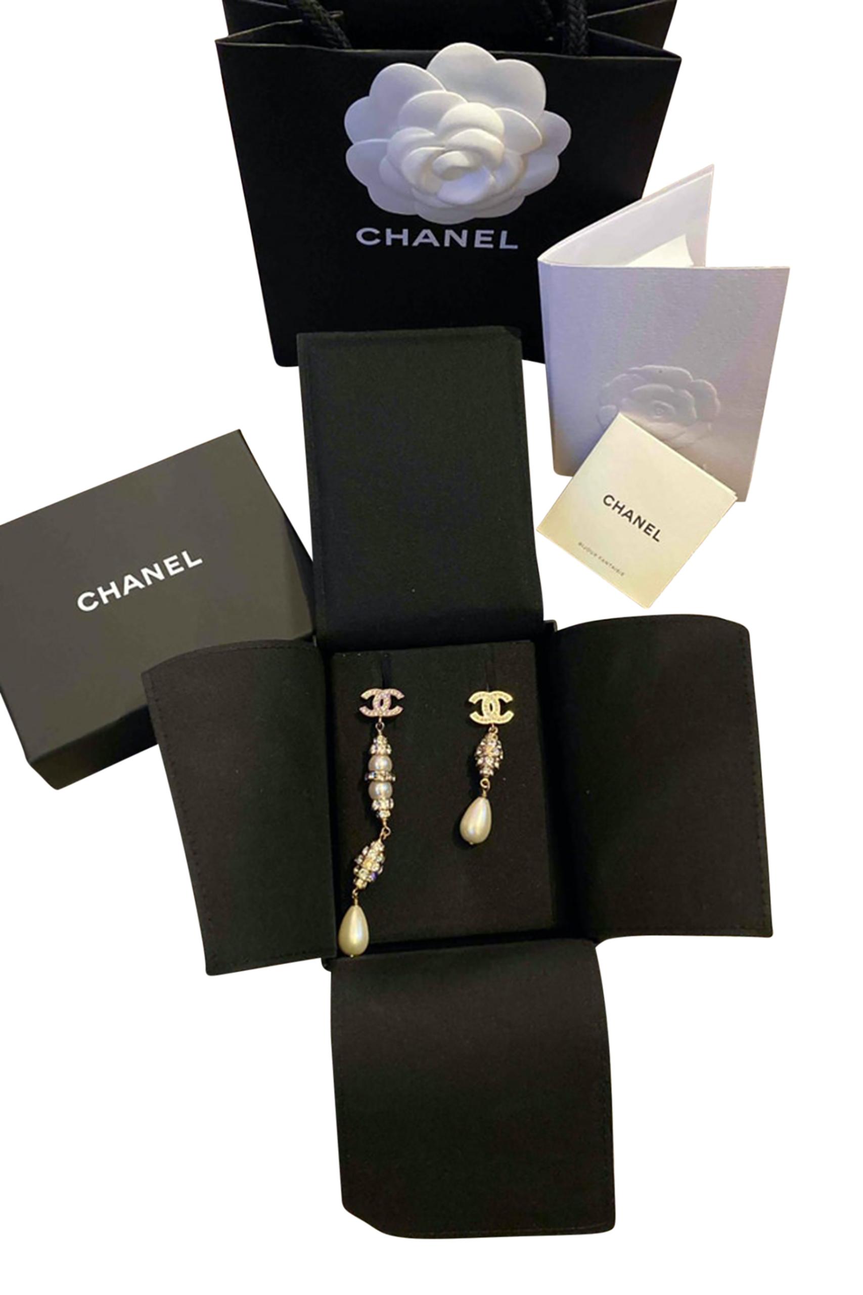 Chanel CC Oorbellen met Parels