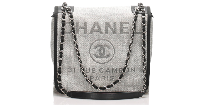 Chanel Small Deauville Jute Crossbody Bag