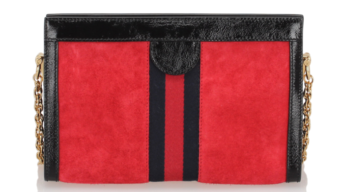 Gucci Small Ophidia Suede Crossbody Bag