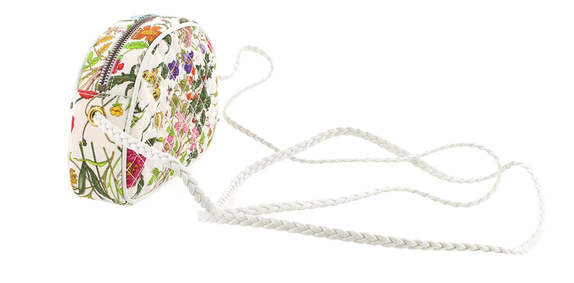 Gucci Mini Flora Zumi Canvas Crossbody Bag