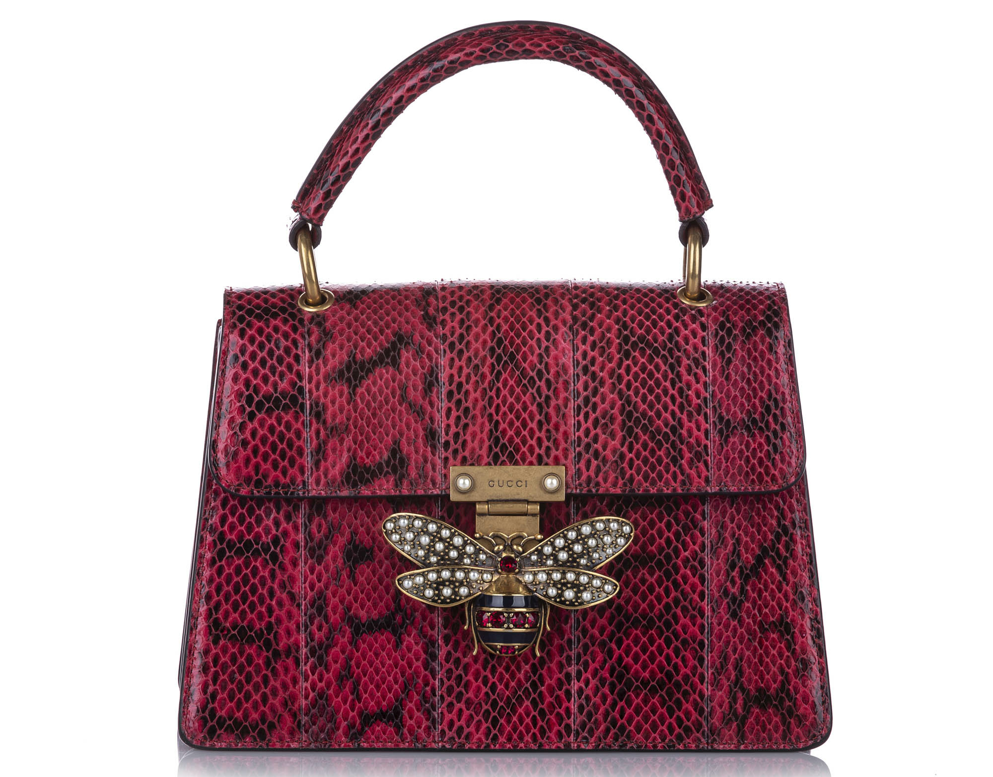 Gucci Queen Margaret Python Bag