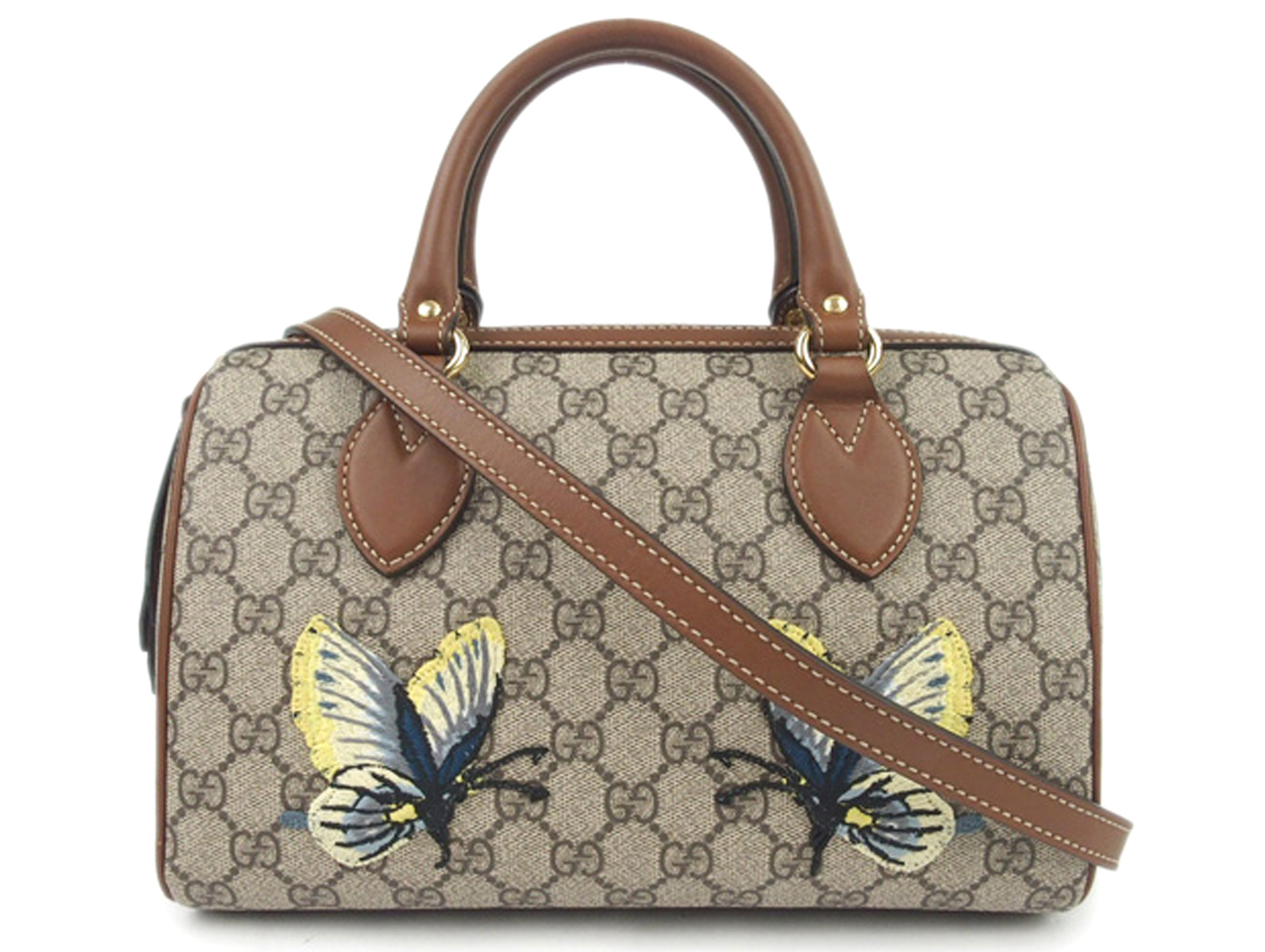 Gucci GG Supreme Butterfly Embroidered Bag