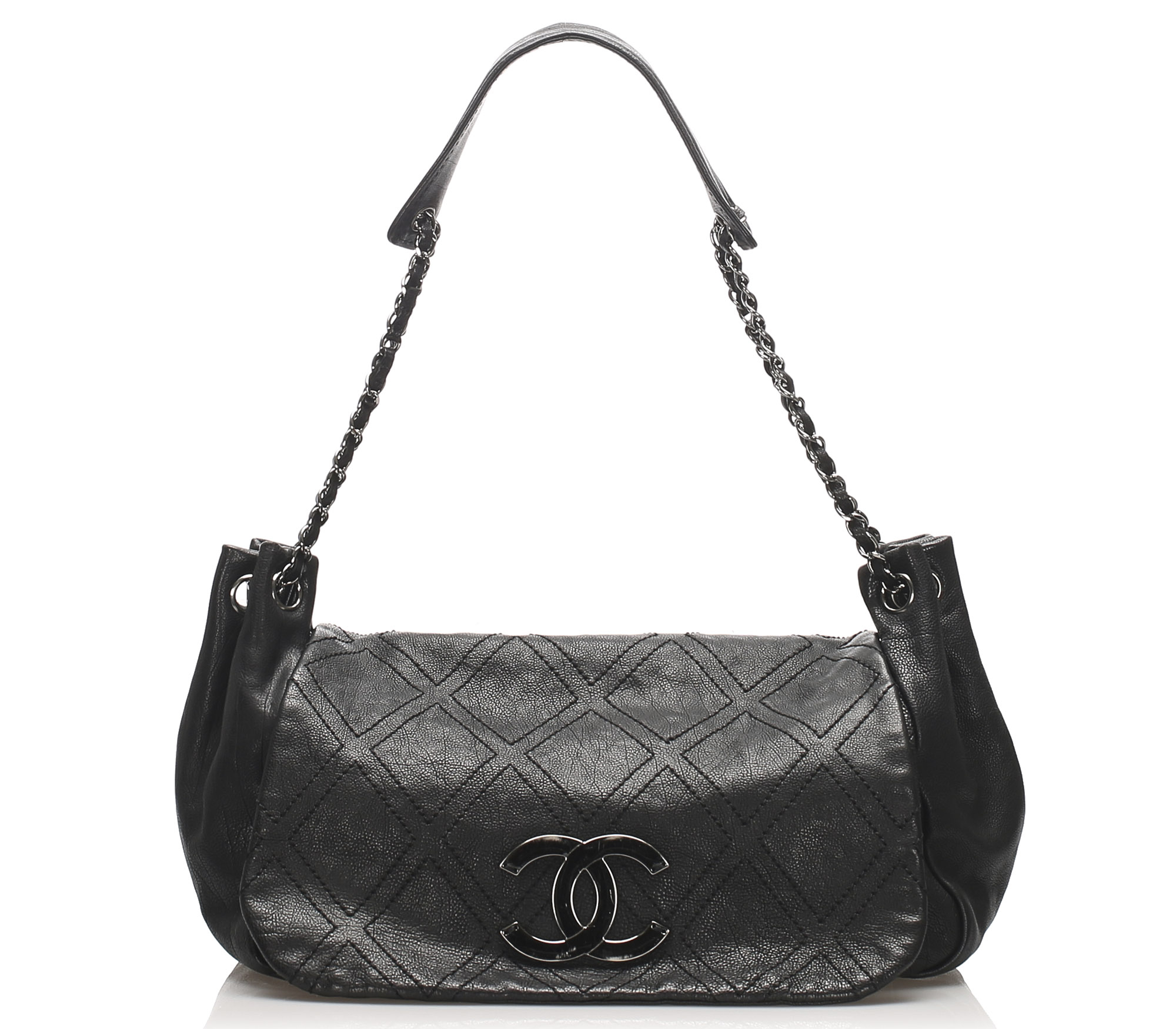 Chanel Accordion Flap Tas Leer