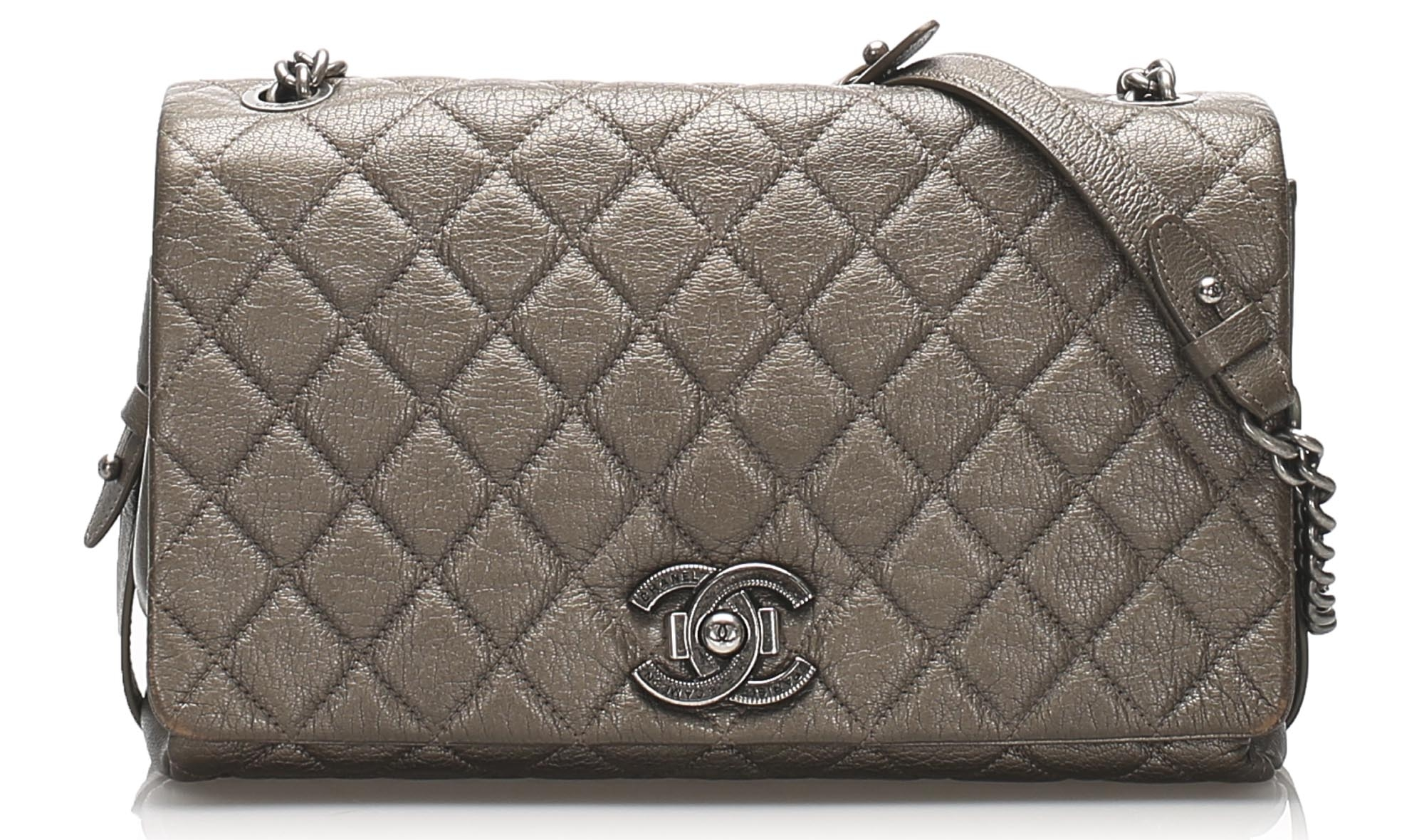Chanel Large Matelasse Lambskin Flap Shoulder Bag