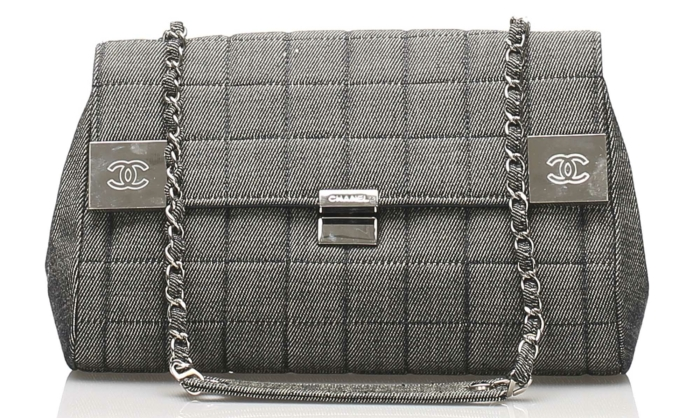 Chanel Choco Bar Denim Flap Bag