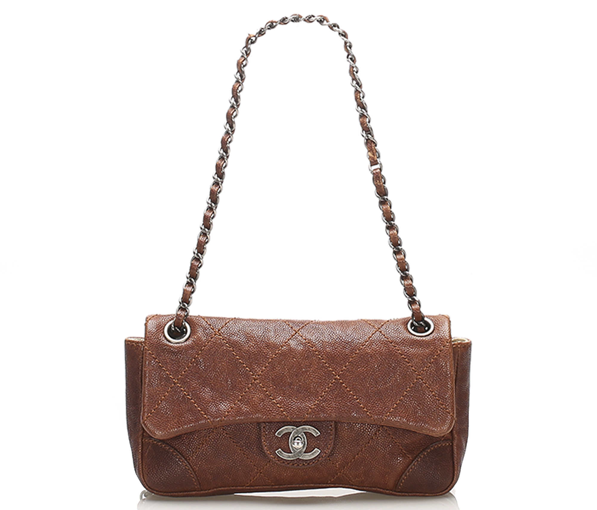Chanel Caviar Leather Wild Stitch Single Flap