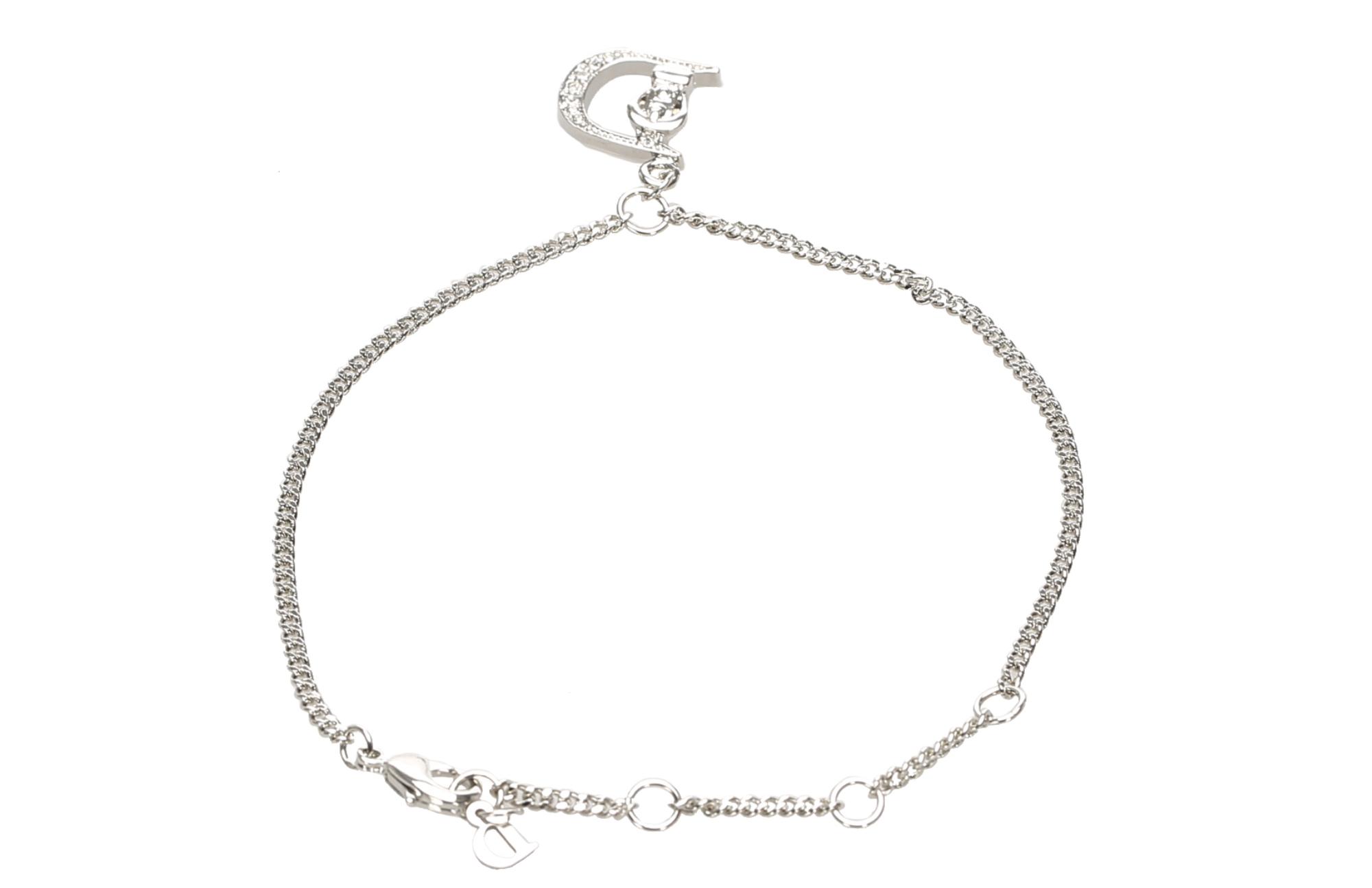Dior D Logo Charm Armband