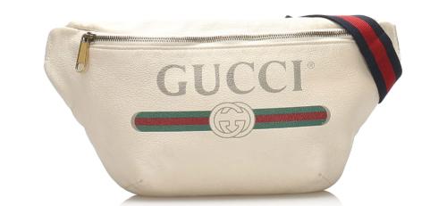 Gucci 2018 Logo Leather Belt Bag