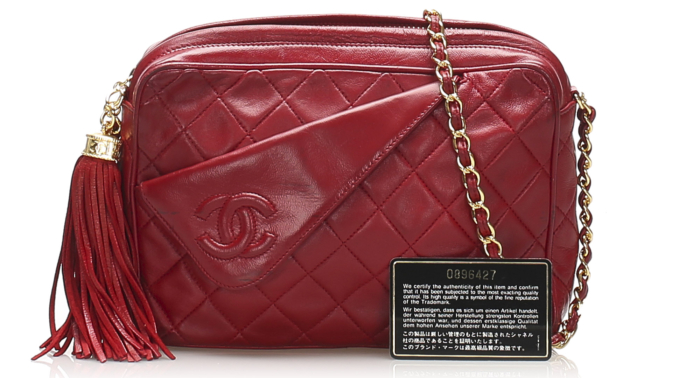 Chanel CC Lambskin Leather Crossbody Bag
