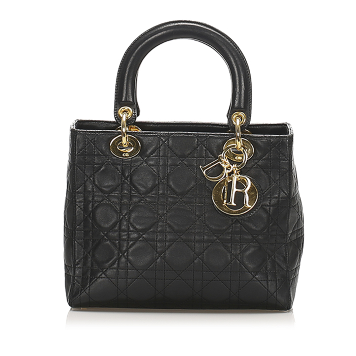 Dior Cannage Lady Dior Leather Satchel
