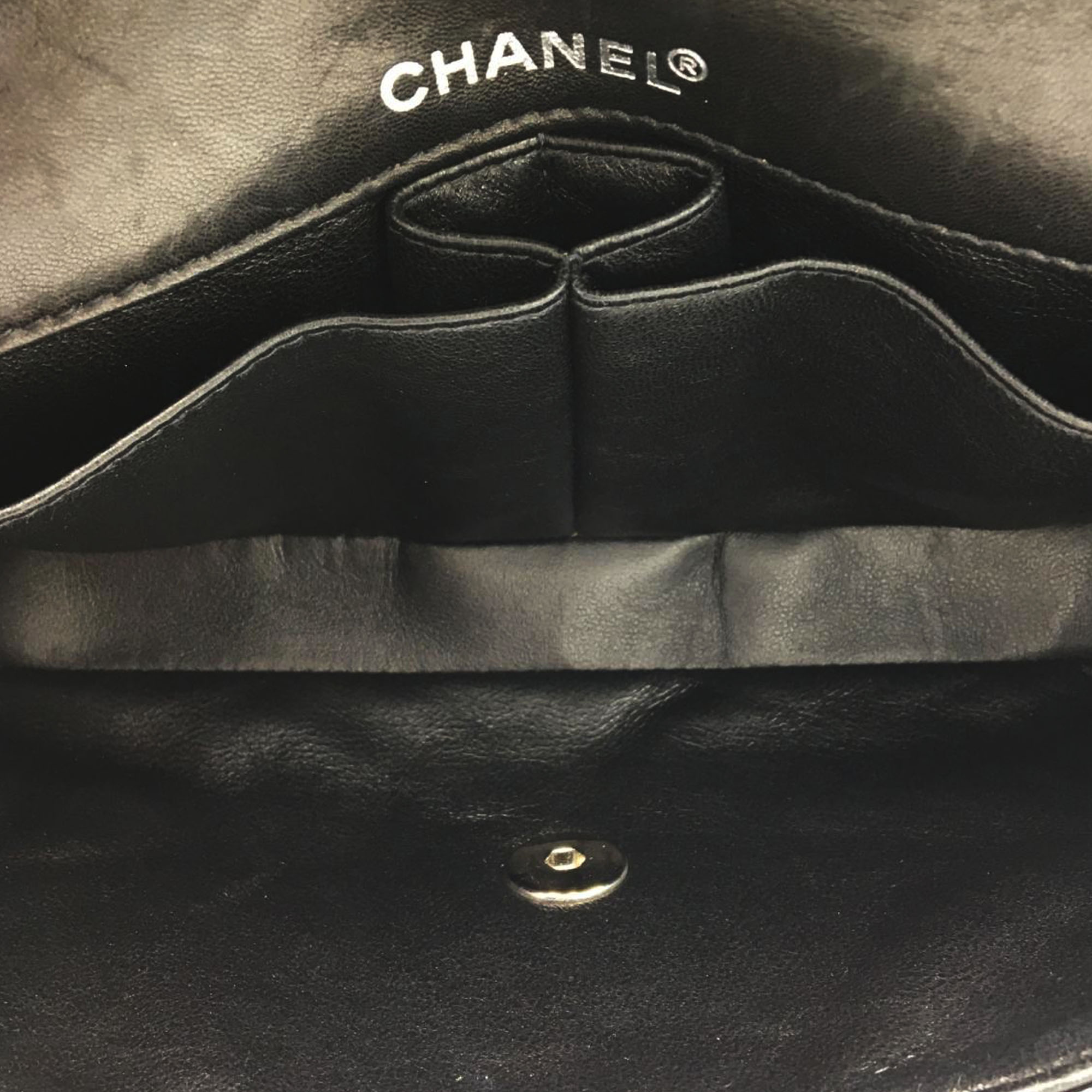 Chanel Choco Bar Patent Leather Flap Bag