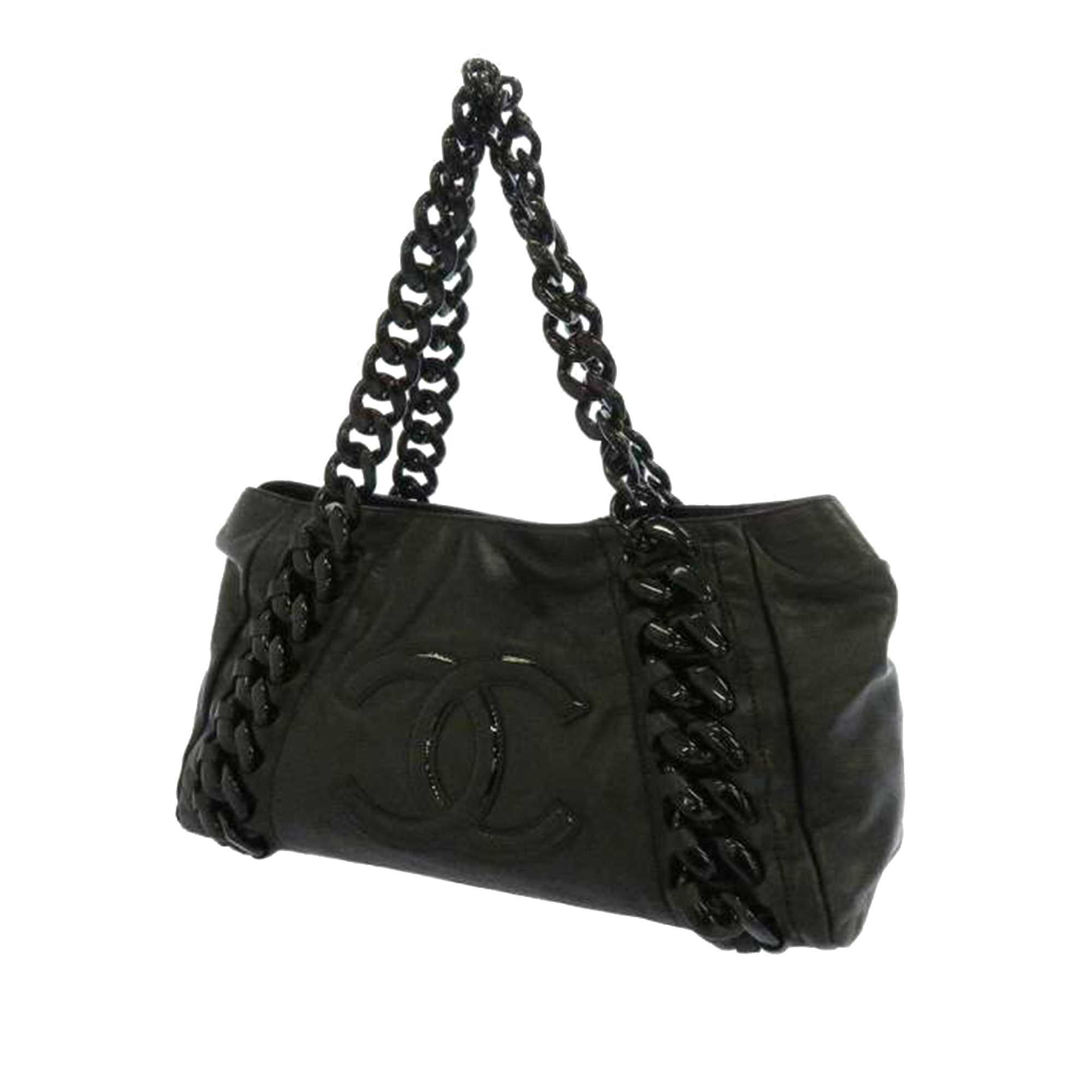 Chanel CC Leather Chain Shoulder Bag