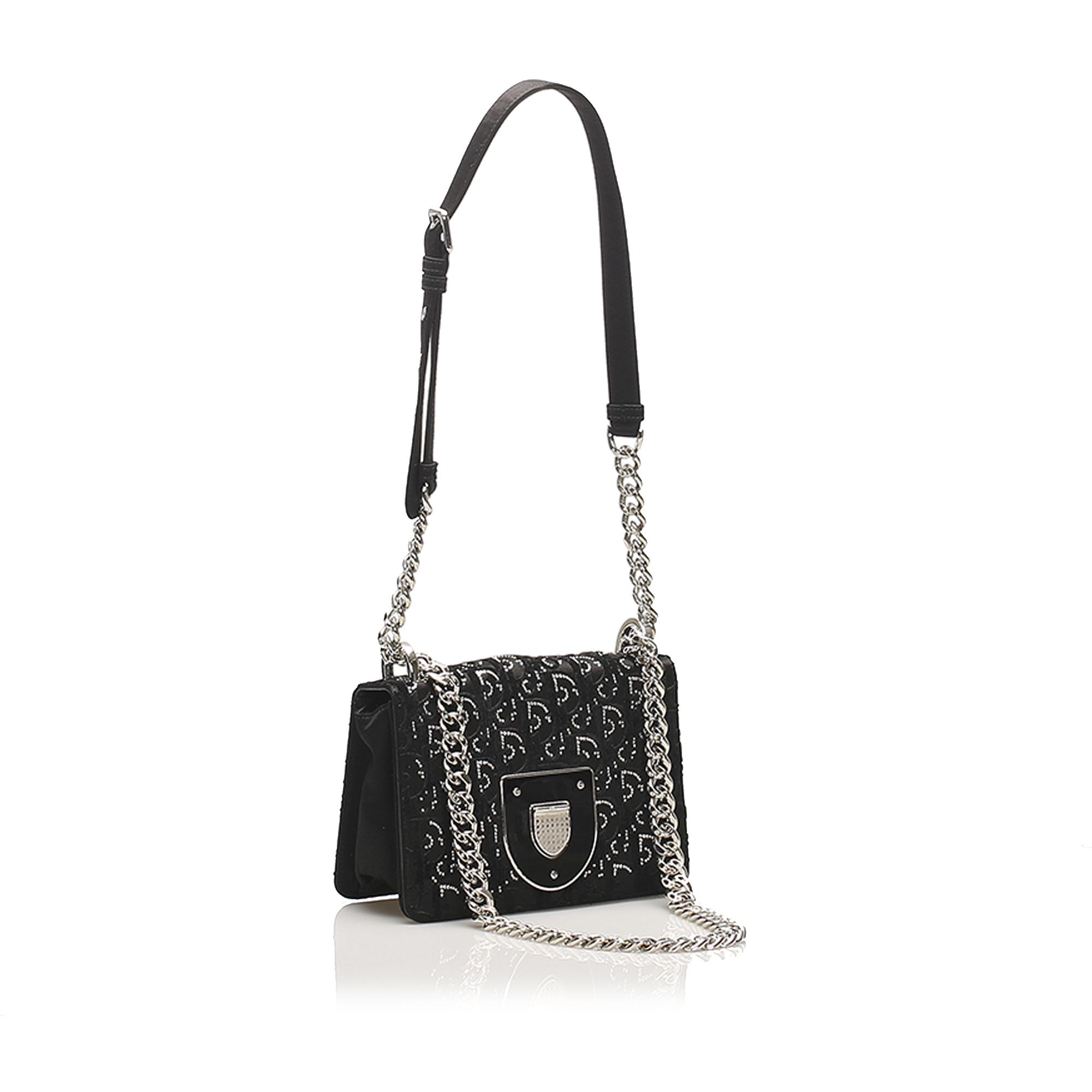 Dior Medium Micro-Cannage Diorama Satin Shoulder Bag
