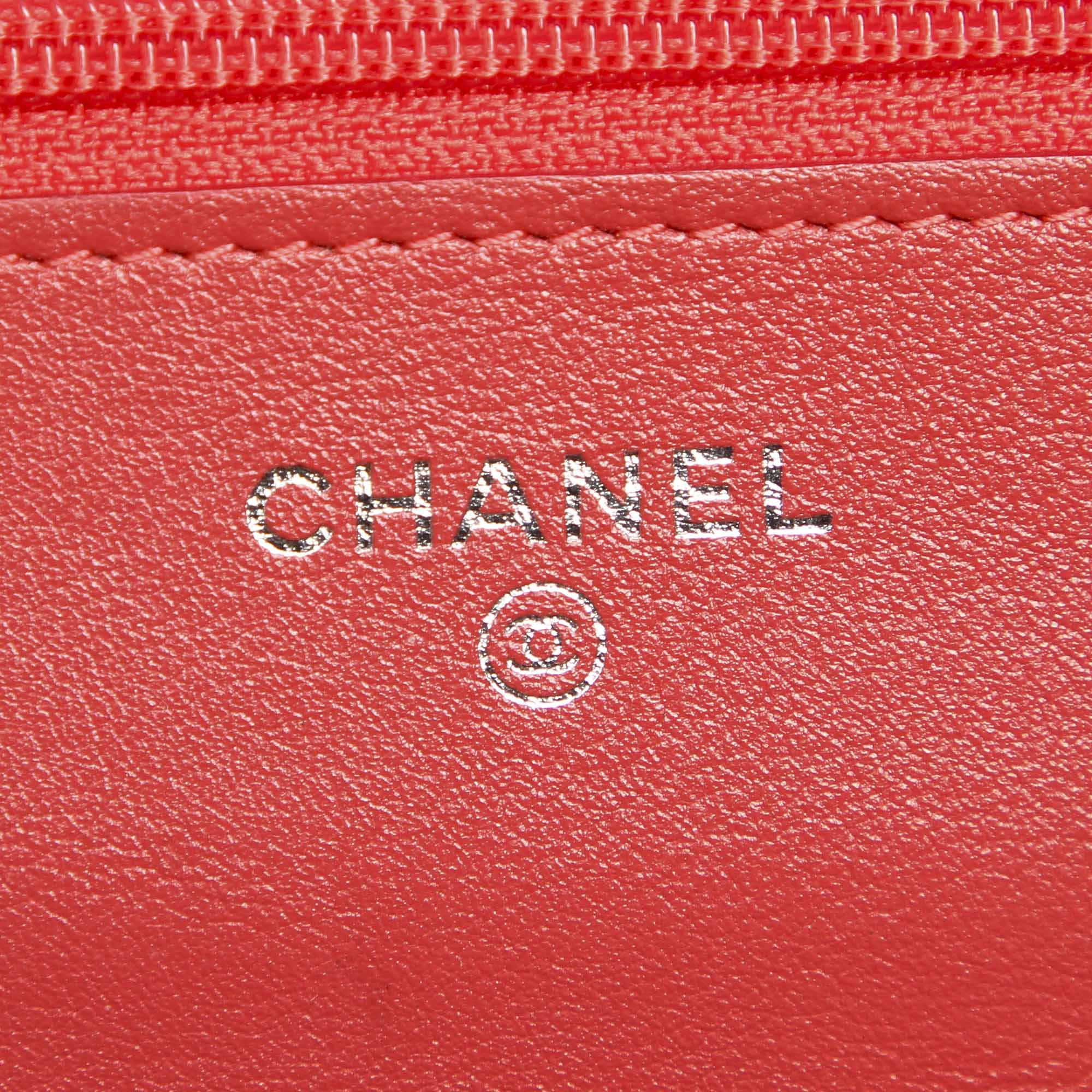 Chanel CC Timeless Patent Leather Wallet on Chain