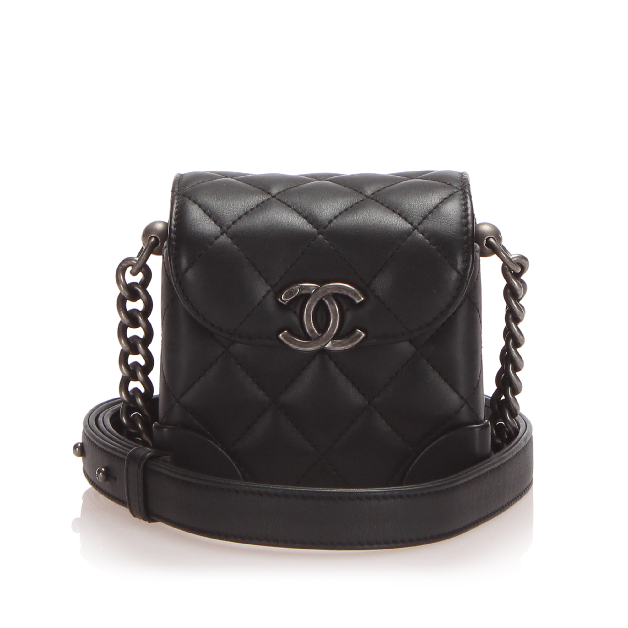 Chanel Matelasse Lambskin Leather Chain Vanity Bag