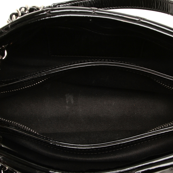 Chanel Mademoiselle Patent Leather Bowling Bag