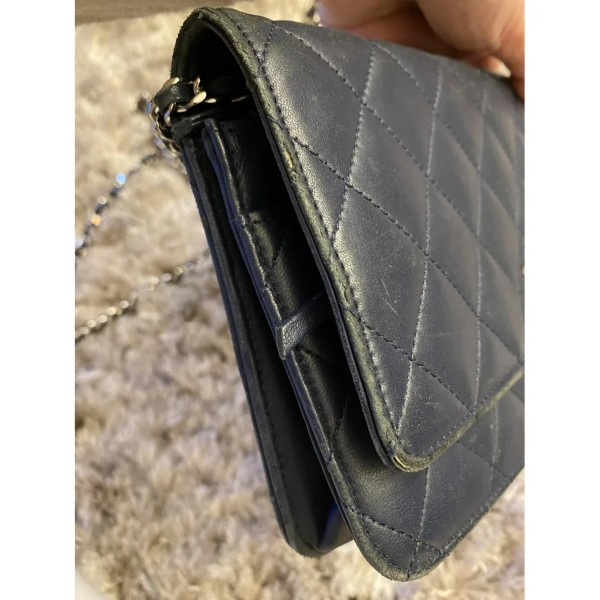 Chanel Wallet On Chain Navy