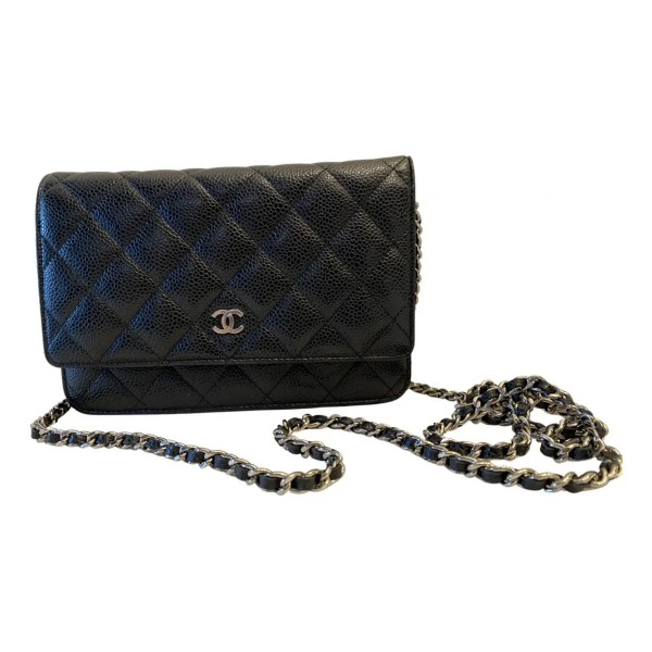 Chanel Wallet On Chain Zwart Kaviaarleer