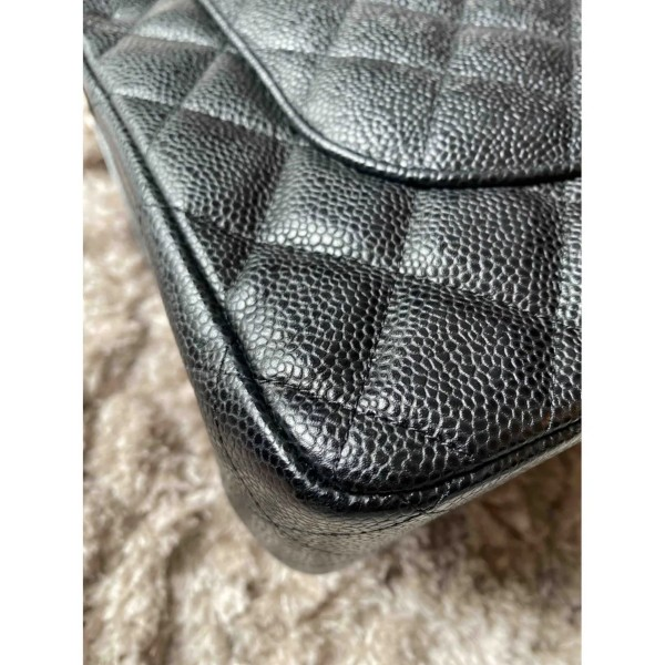 Chanel Caviar Jumbo Double Flap Bag
