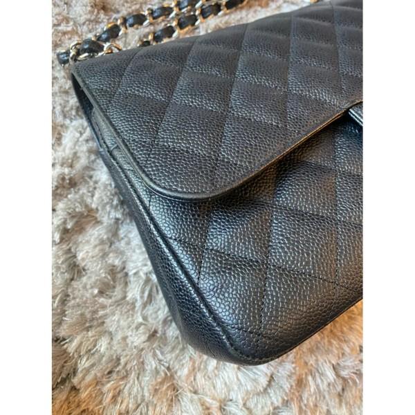 Chanel Timeless Classic Caviar Jumbo Double Flap Bag