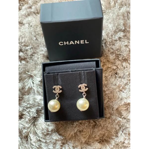 Chanel CC Oorbellen met Parel